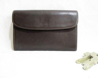Grand portefeuille de qualité Vintage cuir souple marron 19bbb8730bd