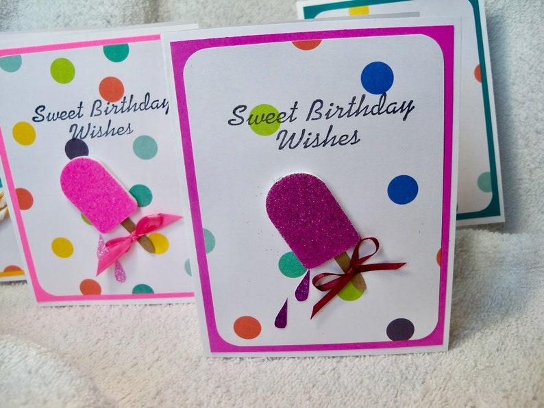 Birthday Card Handmade Original Design Reads Sweet