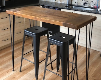 41 Inch Hairpin Table Legs 3 Rod Bar/Pub Height Or Standing Desk Height  (set Of 4) Black Powder Coat (Table NOT Included)