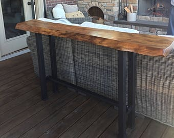 Console table legs etsy sofa console pub trestle table legs pair 2 x 2 raw steel 24 42 height free stretcher bar wood top not included watchthetrailerfo