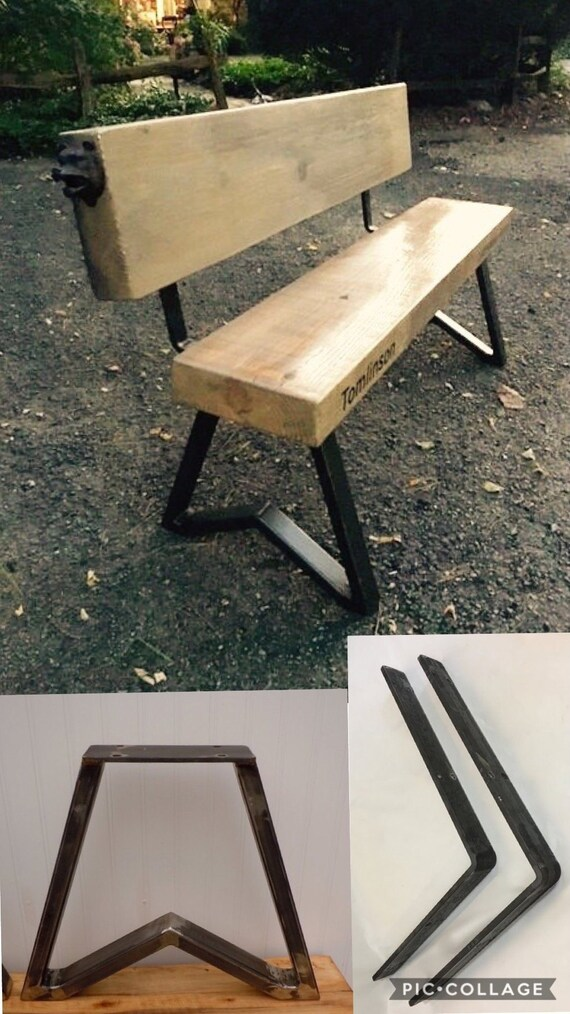 Superb Steel Bench Legs And Back Supports Kit For Diy Wood Bench Heavy Duty 14 75 Tall Legs No Wood Included Trapezoid Design Raw Steel Pdpeps Interior Chair Design Pdpepsorg