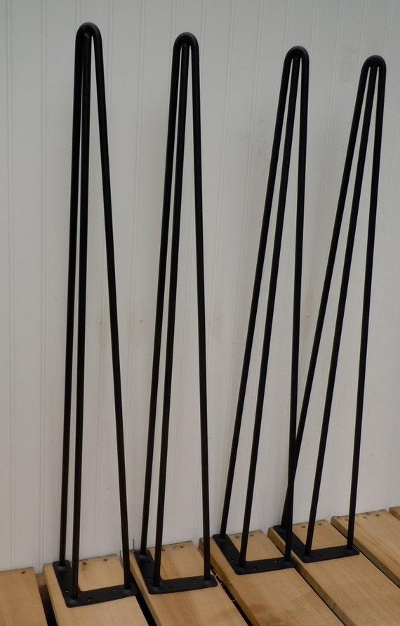 Hairpin Legs 35 Table Legs 3 Rod Set Of 4 Island   Etsy