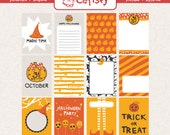 Hello Halloween 3x4 inch Journal Cards Set Printable for Pocket Scrapbooking