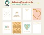 Valentine Project Life Cards, Love Journal Cards, Project Life Digital, Valentine's Day Pocket Scrapbooking Card, Digital Printable PL Cards