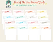 Best of the Year 3x4 Journal Card Printable for Pocket Scrapbook and Project Life