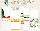 Joyful Season 3x4 inch Journal Card Printable for Pocket Scrapbooking and Project Life