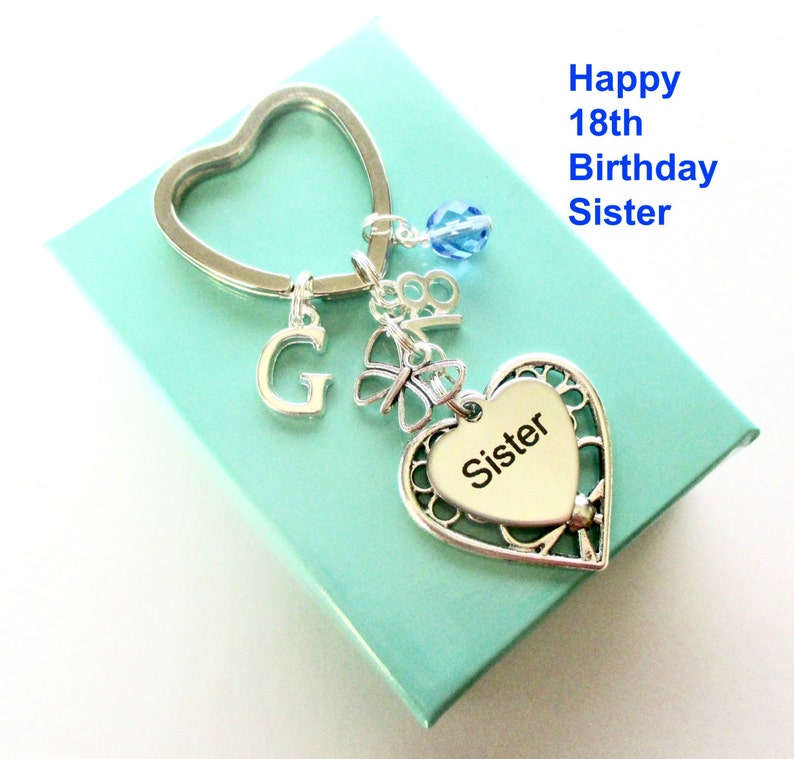 18th Birthday Gift For Sister Personalised Keyring
