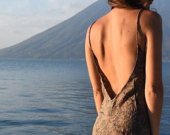 Bohemian summer short dress, backless, beach festival >>> LUNA Dress