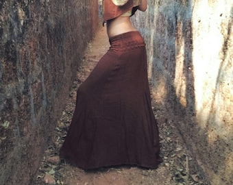 Valhalla skirt <<>> Earthy Bohemian long skirt