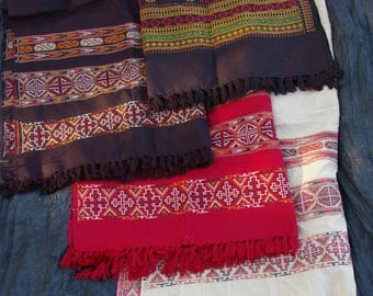 Tribal embroidered shawl