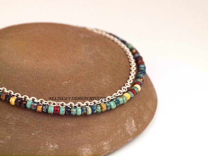 Boho Anklet Picasso Silver Anklet MADE TO ORDER You Choose Bohemian Anklet
