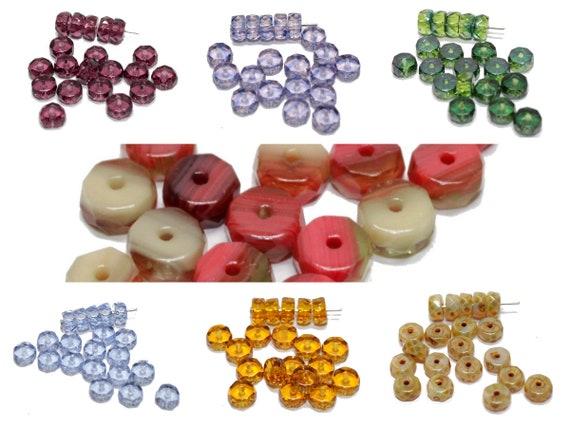 50 Glasschliff-Rondelle ca 3 x 4mm crystal AB