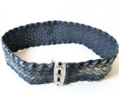 Diesel Vintage, Denim Corset, Braided Belt Jeans Belt ,Diesel Jeans, original collection 1998