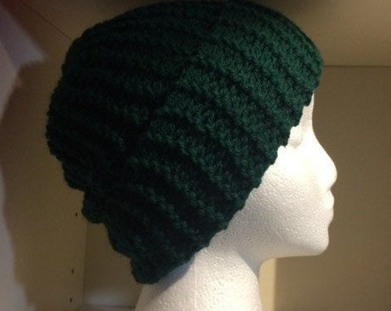Emerald Green Beanie, One-size, Etsy Ireland, HandKnit, Unisex, other colours available