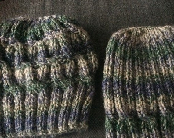 Hat, Handknit in Ireland, Celtic Cable, Aran, Knitted Hat.