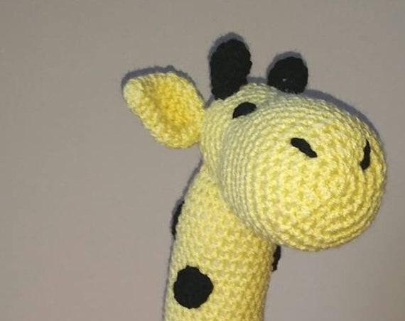 Giraffe Irish Hand Made Crochet Soft Cuddly Toy Children's Gift