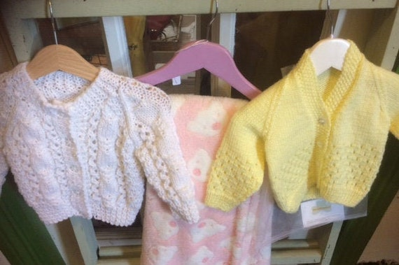 Baby Gifts HandKnit Cardigan's Various Colours styles and patterns, 6months plus