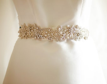 Bridal sashes and belts - Ophelia  (Made to Order)