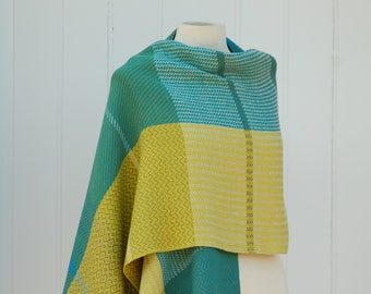 Gifts for women, woven shawl, weaving, oversized scarf, linen shawl, cotton shawl, woven scarf, wrap, handwoven, woven, Scotland.