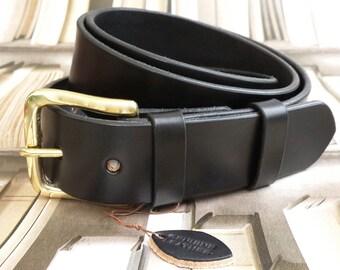 Men's Leather BELT Gift 30mm wide Saddle Tan colour | Etsy