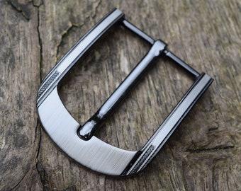 7b38922fedd897 Metall-Gürtelschnalle schwere 40mm Gunmetal finish klassische Jeans  Schnalle massiv schwarz Nickel versilbert Ersatz Schnalle als