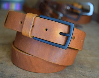 e95d9a1c5fa1 Men's Leather BELT Gift 30mm wide Saddle Tan colour Handmade Full Grain  Leather with Buckle Classic Casual made in UK Trousers Belt