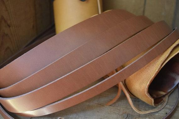 Saddle Tan Premium Cow Hide 8oz - 9oz Veg Tanned Full Grain Leather 3.5mm