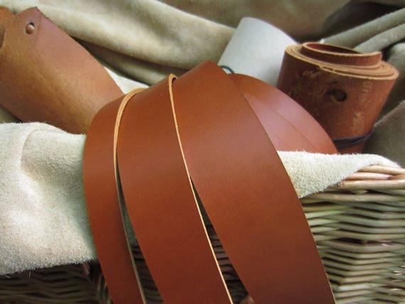 """75/"""" EXTRA LONG SADDLE TAN 3.8mm THICK FULL GRAIN COWHIDE LEATHER STRAP ALL WIDTH"""