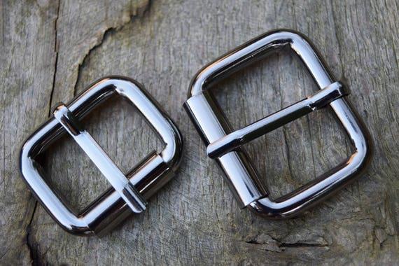 bis 30 mm silber NOS Buckle Solide Rollschnalle // Gürtelschnalle // Schnalle