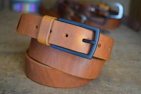 d5ad0b05b4bc Cadeau de ceinture en cuir pour hommes 30mm que large selle   Etsy