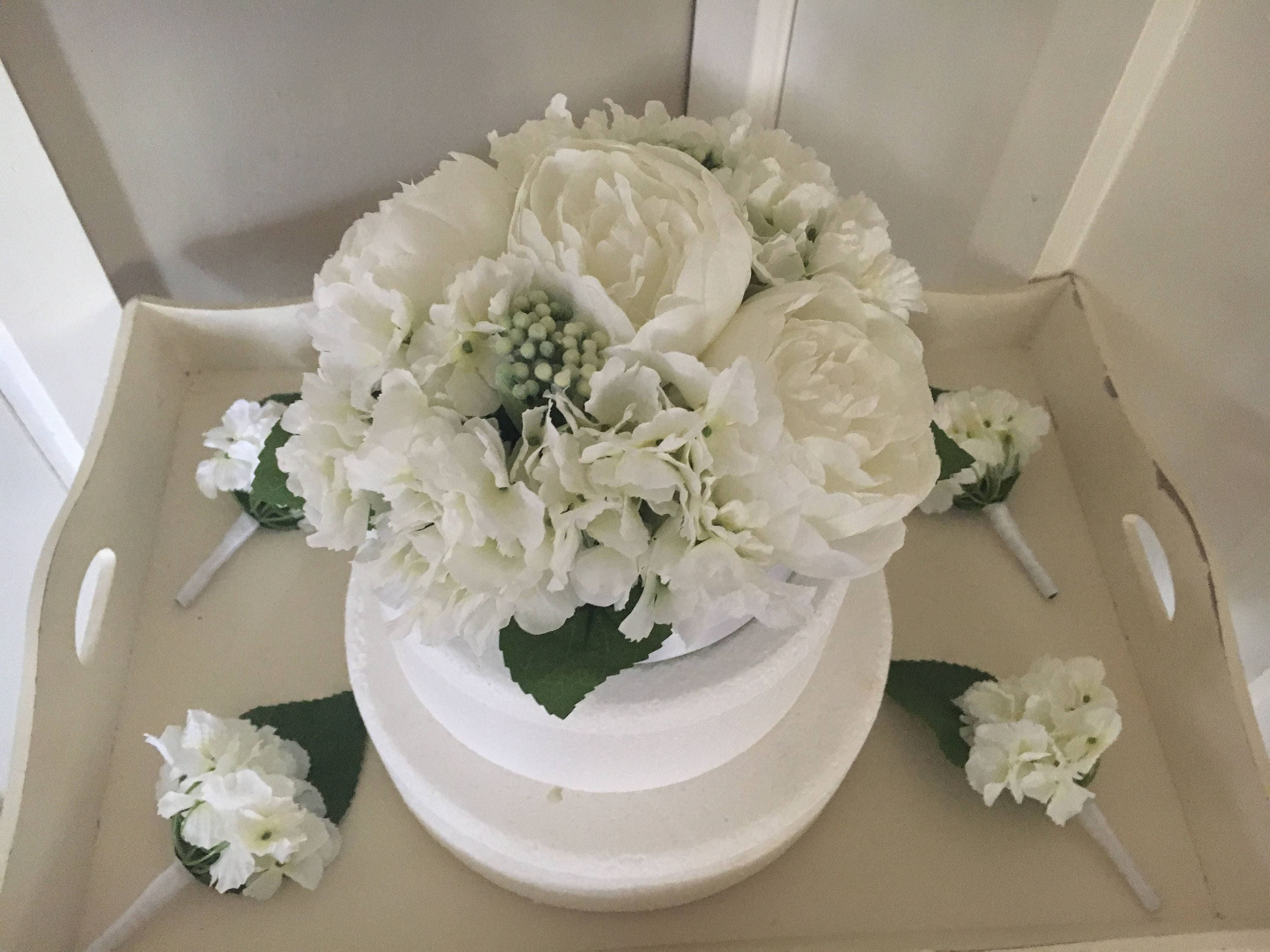 artificial flower wedding cake toppers wedding artificial floral cake topper hydrangeas amp peonies 10843