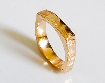 Square Wedding Ring, Kabbalistic jewelry