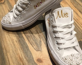 ALL WHITE Pearl Converse  af94f72493