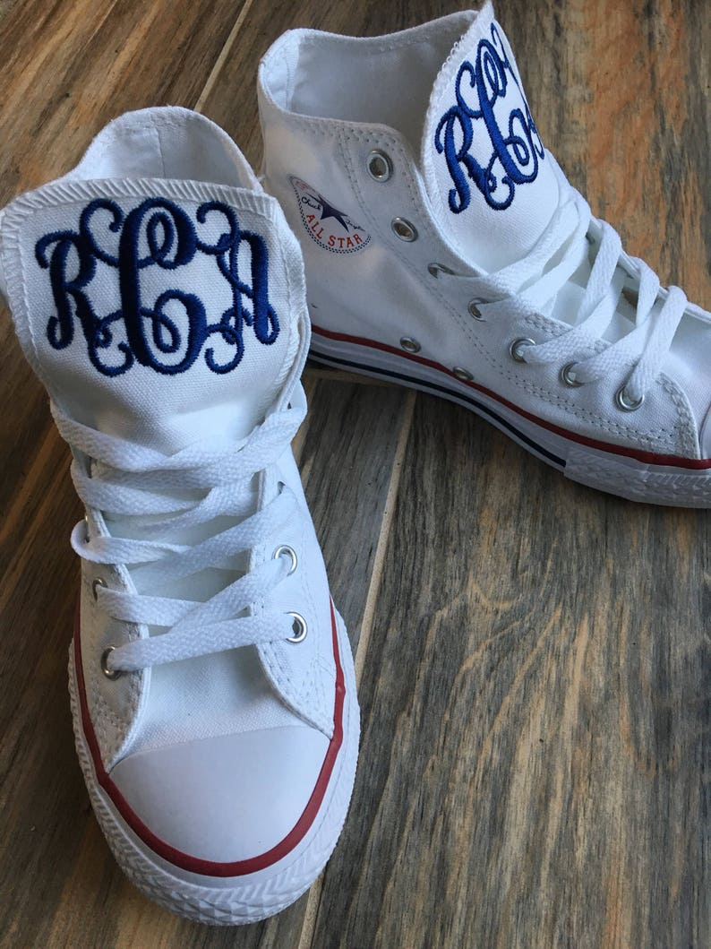 Childrens Converse Embroidered Monogrammed Hitop Converse Etsy
