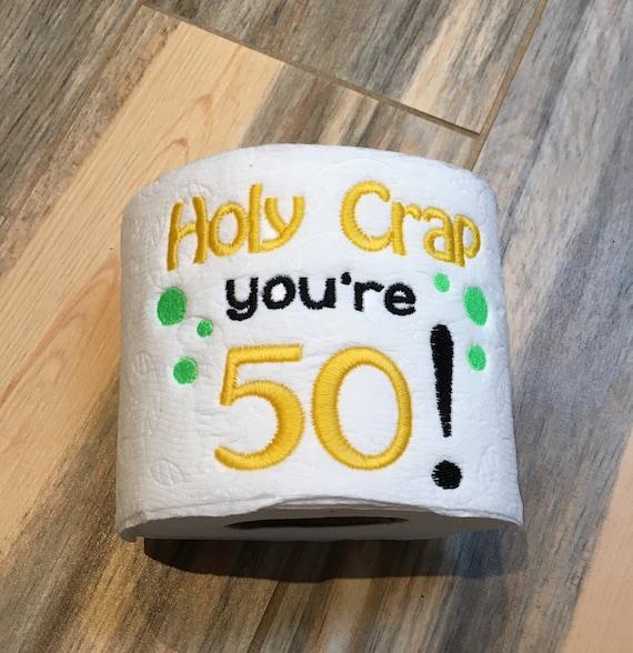 50th Birthday Toilet Paper Gag Gift Guy Funny