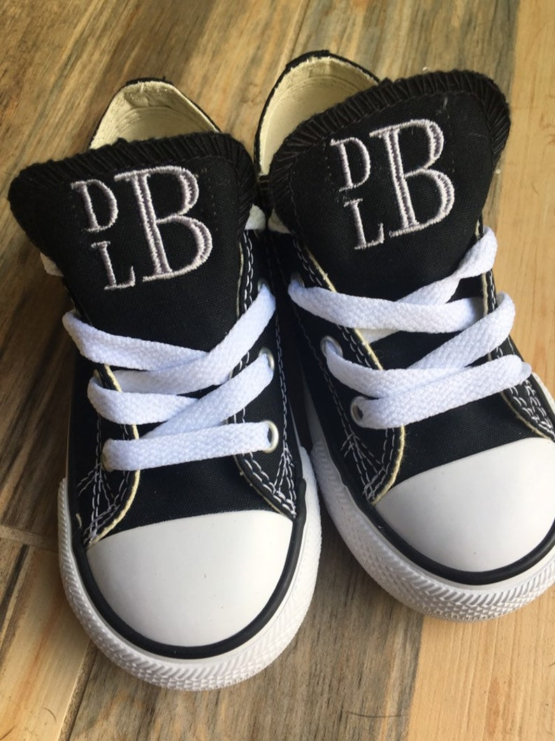 51c64631b9631 Embroidered Toddler Monogrammed Converse, Chucks sneakers, Custom Converse  Kid sneakers