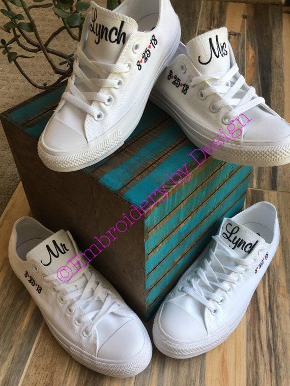 21a4f82015892c Etsy ALL Wedding Bride WHITE Groom CONVERSE Shoes shoes WFfTqw6
