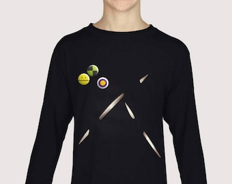 Spikes shirt / With real badges and printed Spikes