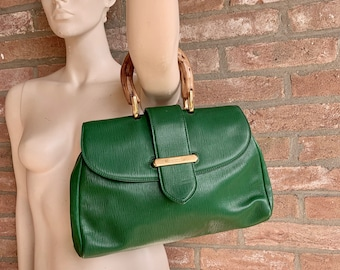 847799a21be3 green epi leather COLOMBO handbag