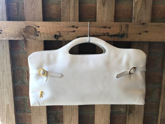 Roberta di Camerino women handbag,roomy tote, whit