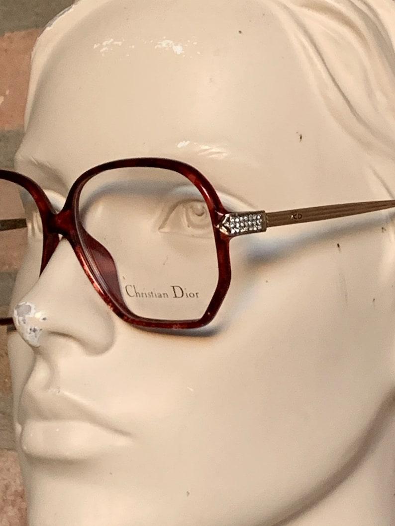491e000d9153 Christian Dior optyl red Rhinestone vintage eye frame deep