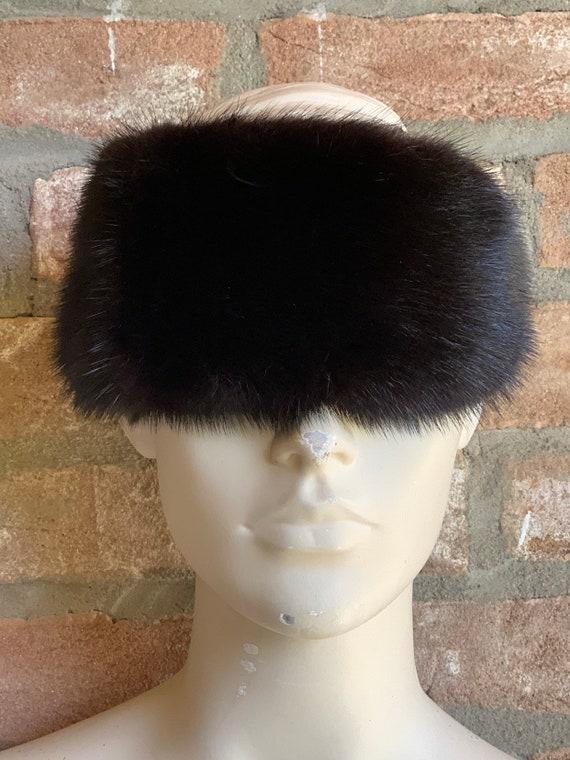 Prada mink head band, vintage