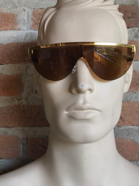 mask sunglasses with mirror lenses, vintage unisex