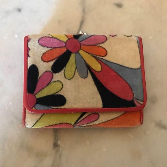 Pucci velvet wallet, floral pattern, hot pink, 60'