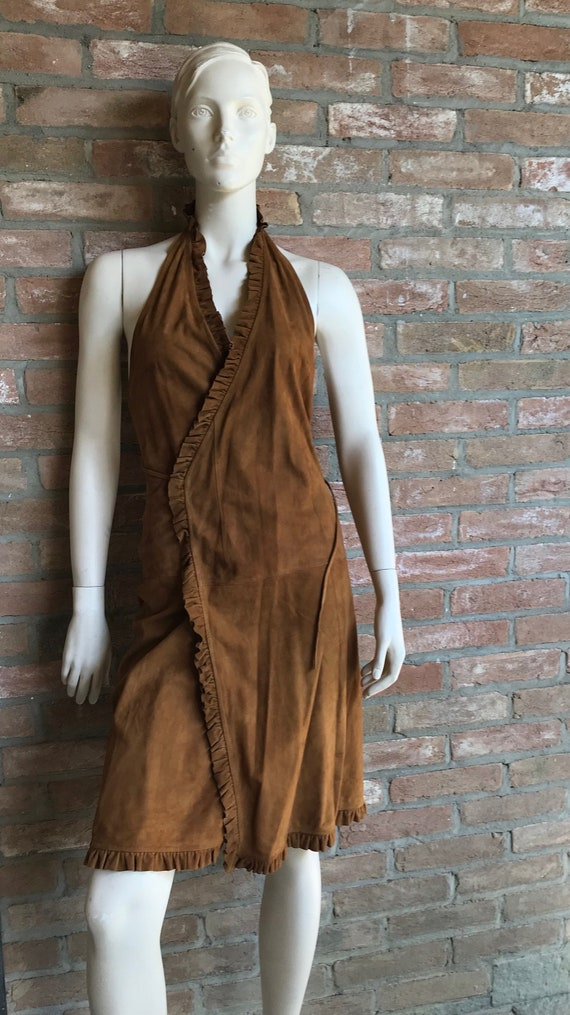 backless Celine leather dress, mint condition, 90'