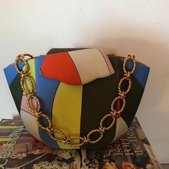 Emilio Pucci handbag,  rare small vintage purse, 1