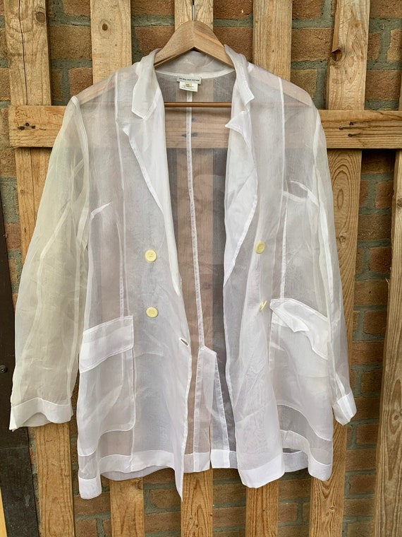 Dries van Noten organza  white shirt, 96 runway, s