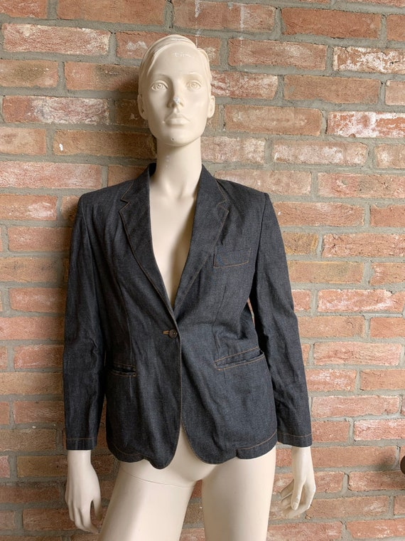 Gucci denim blazer, 80's, woman blazer, vintage de