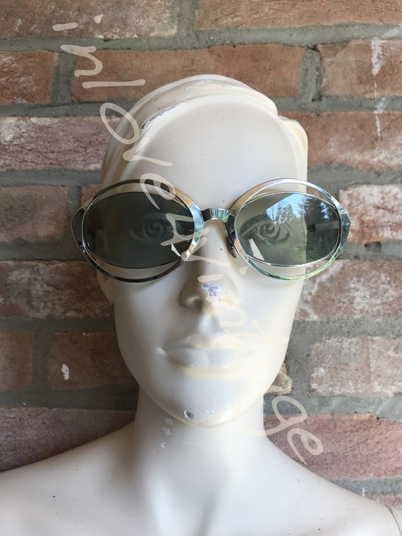Space age sunglasses, 60's, avant garde, chrome to