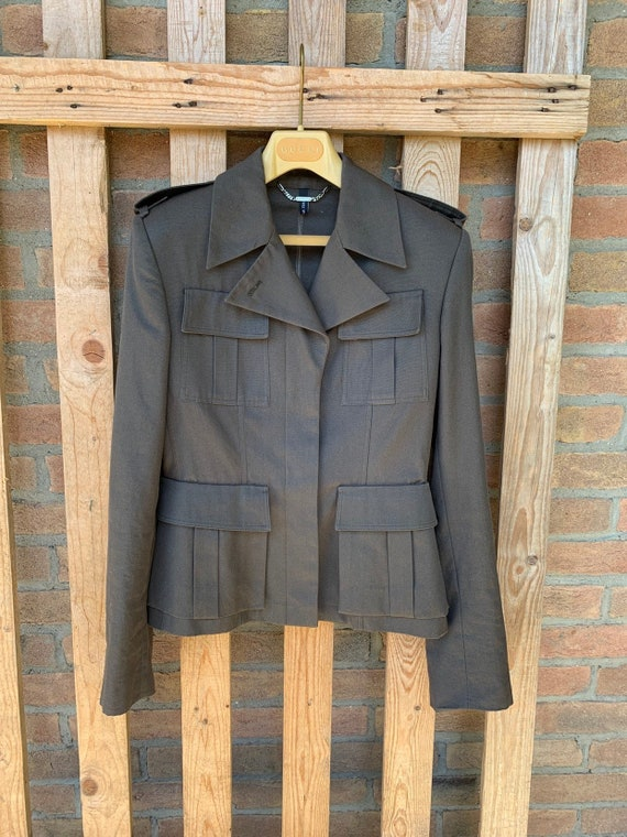 Gucci cotton jacket, military green ton, military